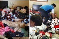 Ditelantarkan ibu, dua anak ini hidup di rumah berisi 5 ton sampah