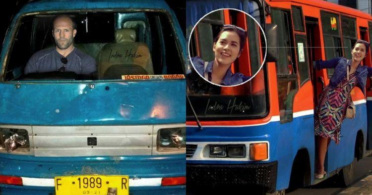 Lucunya 8 foto editan saat seleb terkenal jadi sopir angkutan umum