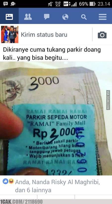 Meme Tukang Parkir  © 2017 1cak.com