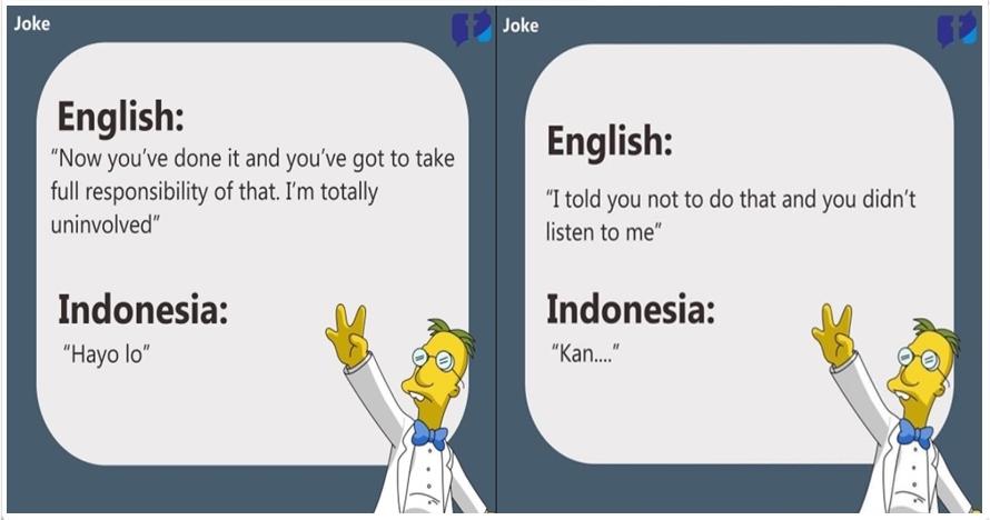 14 Meme terjemahan Inggris-Indonesia ini bikin cinta bahasa sendiri