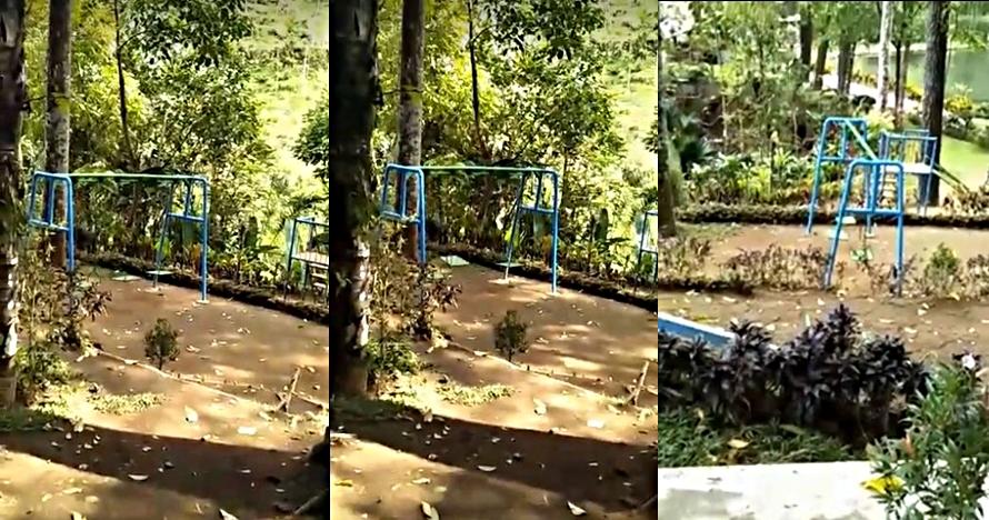 Heboh ayunan taman di Blitar bergerak sendiri, bikin merinding
