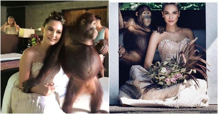 Foto bareng orangutan, Luna Maya dikecam organisasi perlindungan hewan