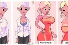 10 Ilustrasi ini cuma dimengerti oleh wanita berpayudara besar