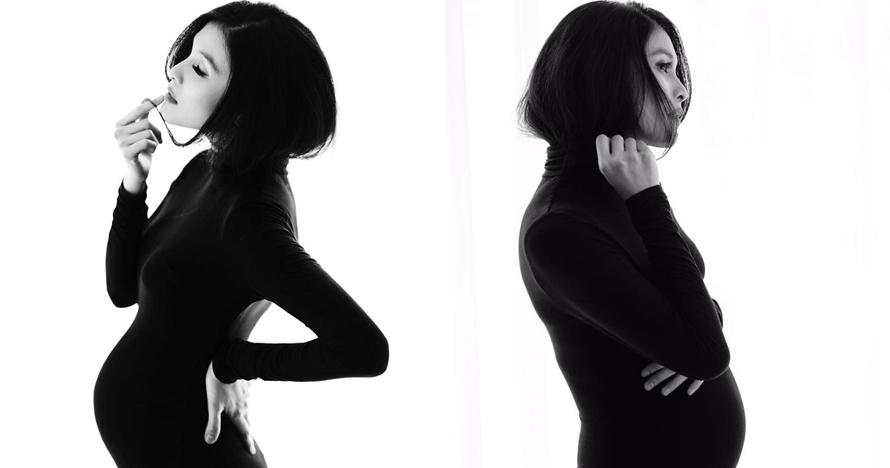 9 Gaya Sandra Dewi saat maternity photo shoot di usia hamil 7 bulan