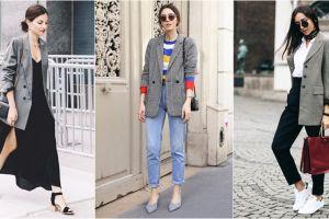 10 Mix & match plaid blazer, tren baru dari New York Fashion Week 2017