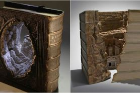 7 Panorama indah ini diciptakan dari buku tebal, unik abis