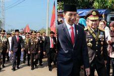 5 Sisi lain peringatan HUT ke-72 TNI, Jokowi jalan kaki 2 km