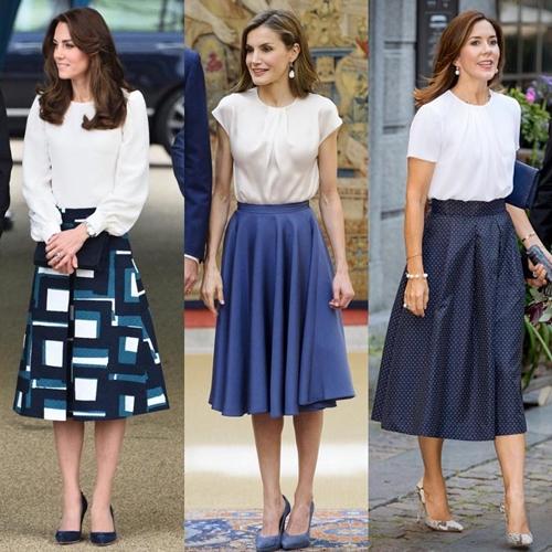 3 putri kerajaan fashion sama  © 2017 Instagram