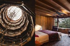 Dibangun di tengah hutan, penampakan hotel bambu ini mewah abis