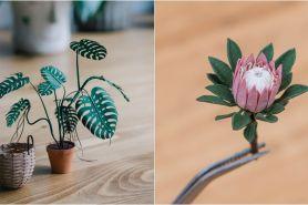 10 Karya miniatur tanaman dari kertas, detailnya bikin terpana