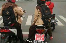 Dipasangi pelat nomor Thailand, motor pelajar diciduk polisi