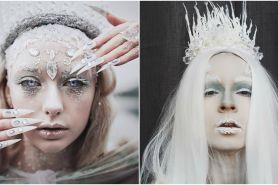 10 Kreasi makeup tema ice queen ini kreatifnya kebangetan, keren deh
