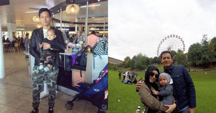 10 Momen keseruan keluarga kecil Fedi Nuril liburan ke luar negeri