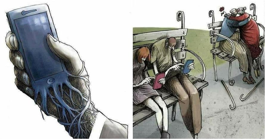 10 Ilustrasi menyedihkan ini gambarkan mirisnya hidup zaman sekarang