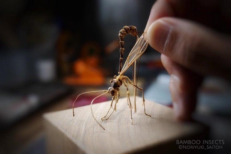 10 Karya dari bambu ini mirip serangga, detailnya luar biasa