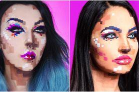 Pixel makeup, tren riasan wajah yang nyentrik banget