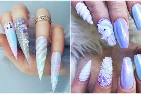 10 Nail art tema unicorn ini cantiknya kebangetan, bikin gemes