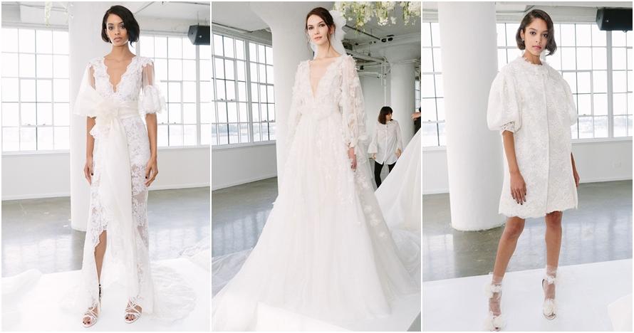 Sentuhan 3D gaun pengantin ala Marchesa, sakral tapi bisa buat pesta