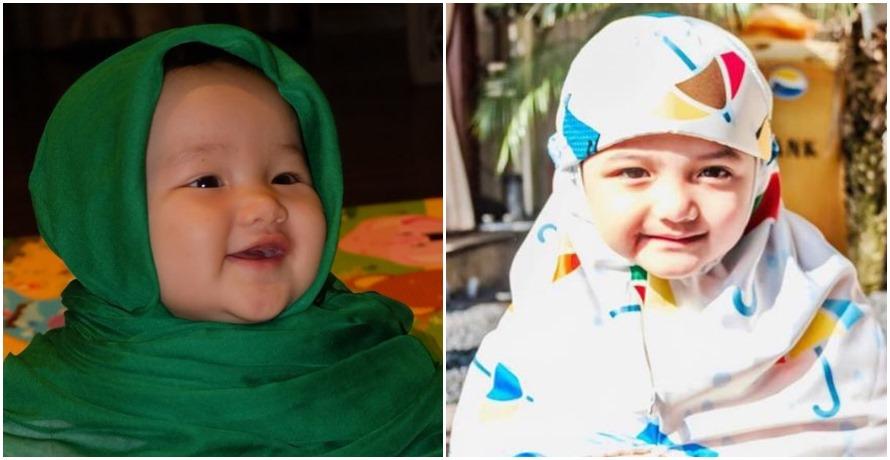 5 Anak seleb ini dipakaikan hijab walau masih balita, dulang pujian