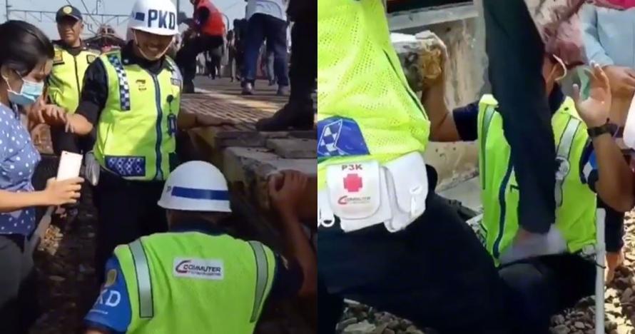 Aksi petugas bantu penumpang kereta yang telantar ini tuai pujian