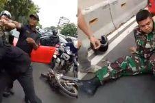 Gara-gara buang sampah sembarangan, pria ini berantem sama anggota TNI