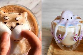 10 Latte art 3D ini gemesin parah, bisa gerak saat digoyang