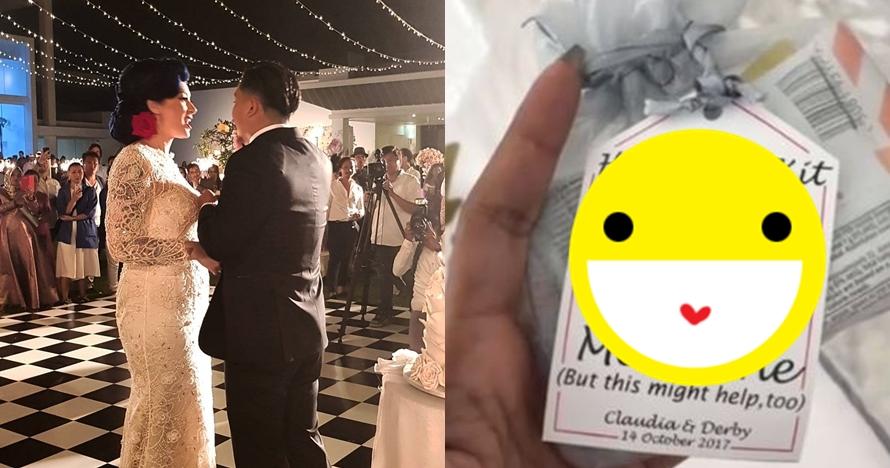 Nggak biasa, ini suvenir unik pernikahan Derby dan Claudia Adinda