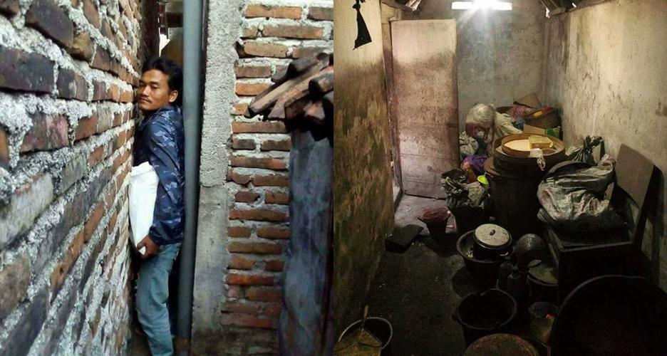Wanita tua & buta ini sebatang kara tinggal di rumah ukuran 2x4 meter