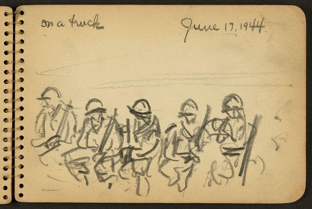 10 Sketsa Perang Dunia II ini ungkap pengalaman jadi seorang tentara