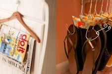 10 Cara memanfaatkan hanger berkarat, jangan dibuang-buang lagi ya