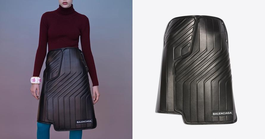 Mirip karpet mobil, rok brand fashion tenar ini harganya Rp 33 juta