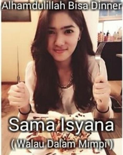 Meme Isyana  © 2017 instagram