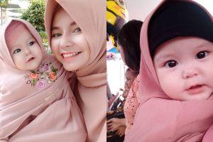 12 Potret lucu Naura Alaydrus, bayi 1 tahun yang hits dengan hijabnya