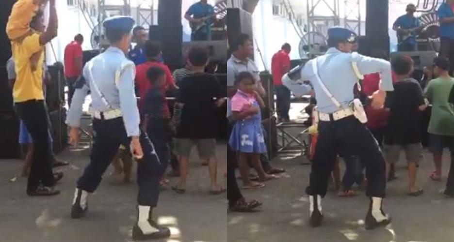 Aksi goyang anggota POMAU, warganet: Jangan kasih kendor, Pak