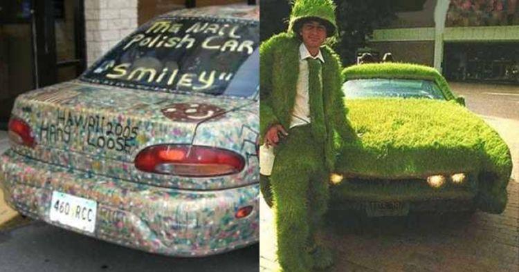 10 Hiasan unik bodi mobil, ada yang dilukis dengan cat kuku