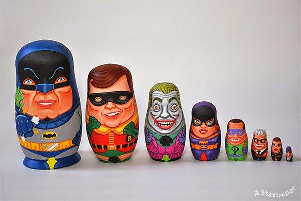 Begini jadinya jika karakter di 7 film superhero dibikin boneka daruma
