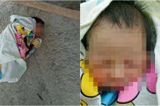 Bayi malang masih bertali pusar ini dibuang orangtuanya, kok tega ya?