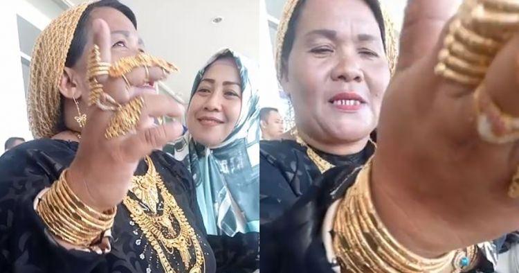 Ibu ini pakai perhiasan lebih dari 1 kg, pengakuannya bikin terkejut