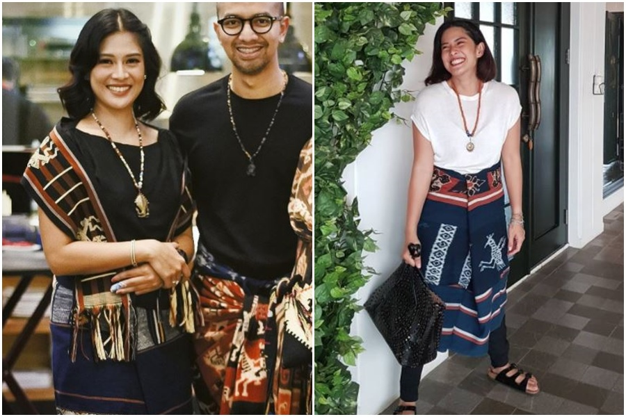 9 artis ini cantik maksimal kenakan kain tenun khas indonesia
