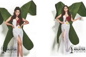 Kostum Miss Universe Malaysia ini bak nasi lemak, ada telor ceploknya