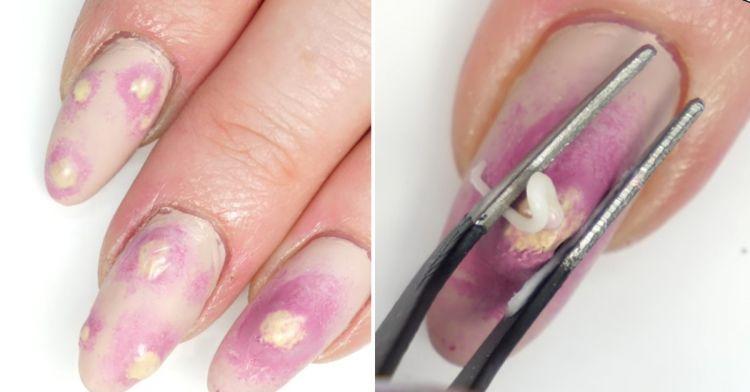 Tren nail art Halloween terinspirasi dari jerawat meletus, yay or nay?