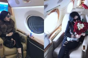 10 Gaya Syahrini saat naik jet pribadi ini cetar abis, mewah banget