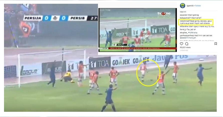 Kontroversi Persija vs Persib, aksi Bambang Pamungkas dikecam warganet