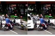Cara polisi amankan pengendara motor yang lawan arus ini kocak