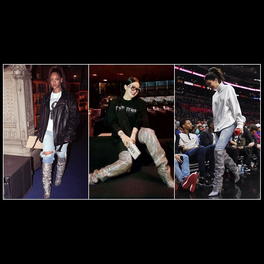 Tak disangka, 7 seleb dunia ini pakai boots yang sama dengan Syahrini