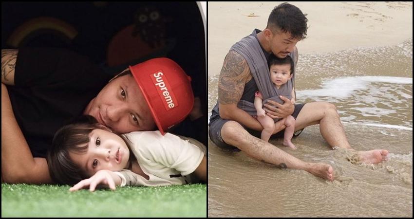 9 Foto kedekatan artis ganteng dengan putri kecilnya ini lucu