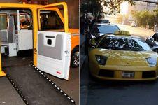 9 Taksi unik di dunia, ada yang pakai Lamborghini