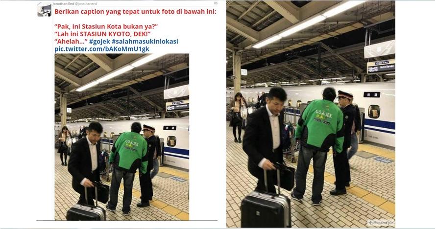 Heboh pria berjaket hijau diduga ojek online 'nyasar' ke Jepang