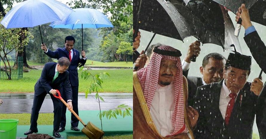 Ini gaya Jokowi saat payungi pemimpin negara lain, dekat dan hangat