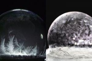 10 Foto proses gelembung sabun membeku, indahnya bikin takjub